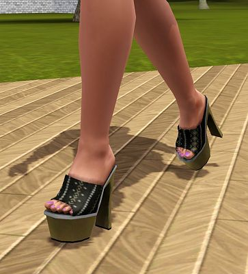 Sims 3 shoes, heels, plats, fingers