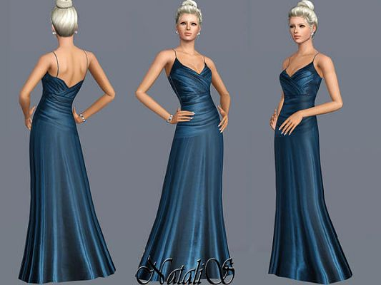 Sims 3 gown, dress, fashion
