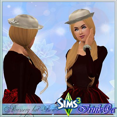 Sims 3 accessory, bow, hat