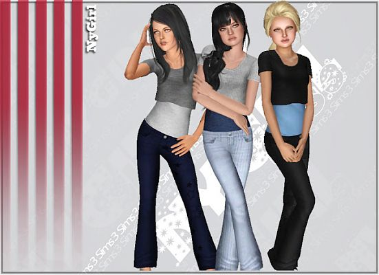 Sims 3 jeans, bottom, clothes, top