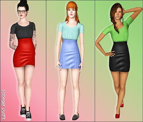 Sims 3 outfits, clothes, fashion