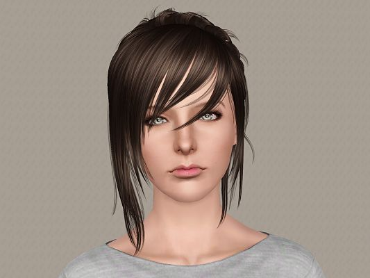 Sims 3 hair, hairstyle, sims3, female, retexture
