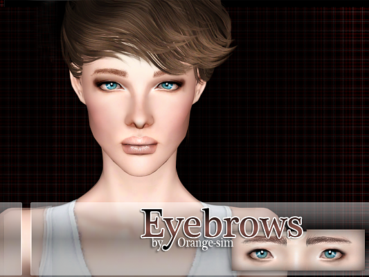 Sims 3 lips, lipgloss, makeup, female, eyebrows