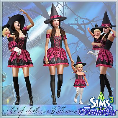 Sims 3 cloth, clothes, fashion, set, halloween