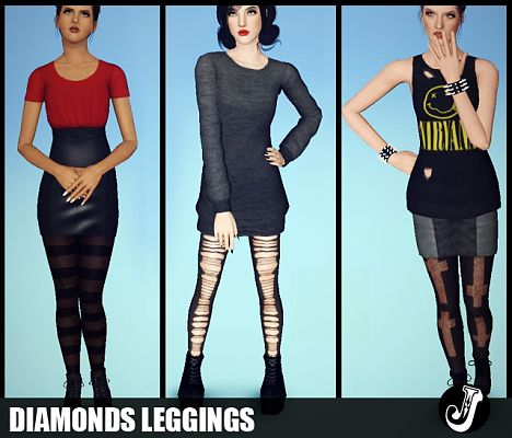 Sims 3 leggings, accessories