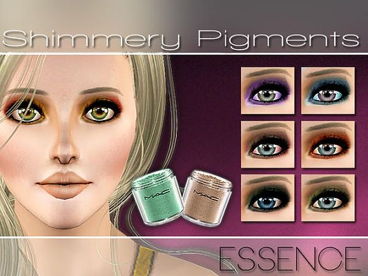 Sims 3 eyeshadow, eyes, makeup, pigments