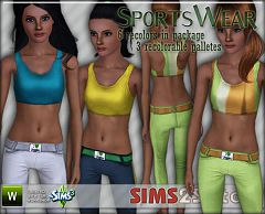 Sims 3 athletic, sport, wear, top, bottom
