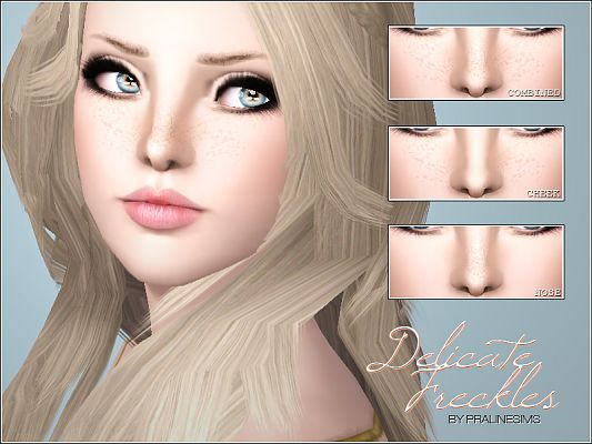 Sims 3 freckels, makeup