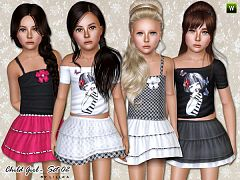Sims 3 dress, cloth, clothing, fashion, child