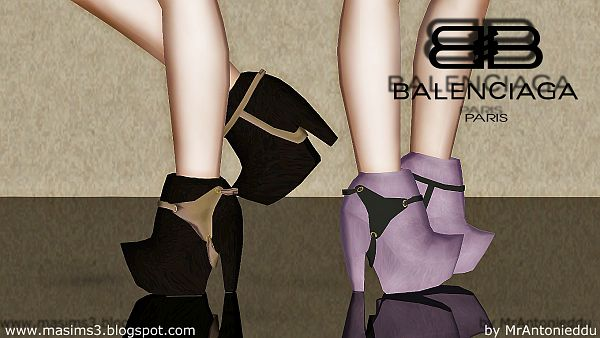 Sims 3 shoes, high heels, designer, boots, fashion, female