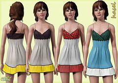 Sims 3 colorblock, silk, dress, female, fashion, clothing