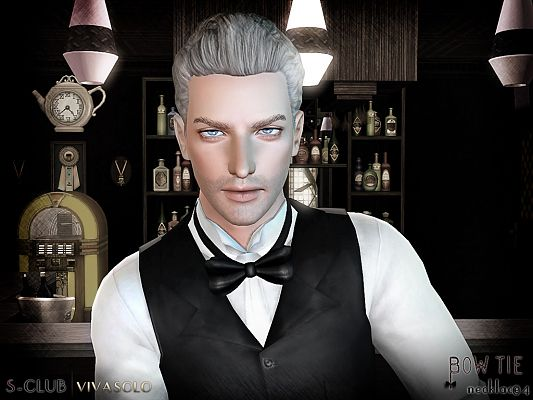 Sims 3 bow, tie, necklace, accessories, male