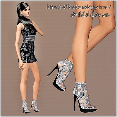 Sims 3 shoes, designer, heels, boots, lace