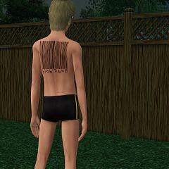 Sims 3 tattoo., tattoos, accessory, barcode