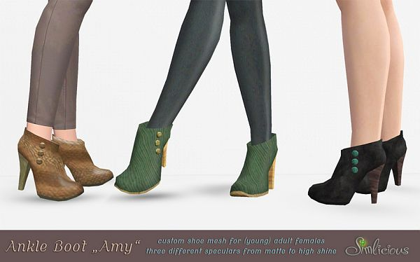 Sims 3 boots, ankle, shoes