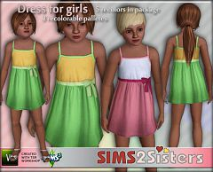 Sims 3 bow, ribbon, dress, children , clothing