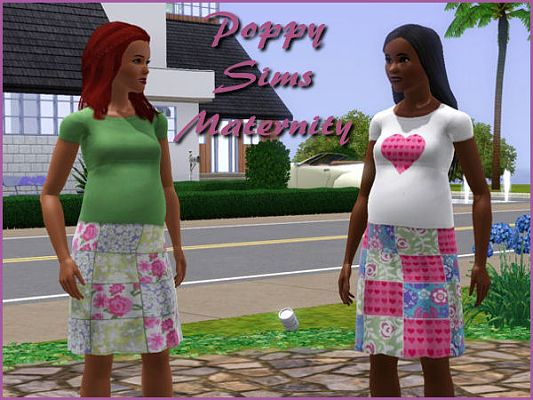 Sims 3 top, outfit, fashion, clothing, casual, female, maternity