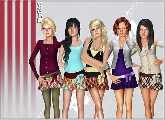 Sims 3 skirt, outfit, fashion, clothing, casual, female