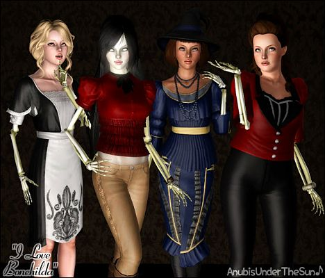 Sims 3 top, jacket, clothes, halloween