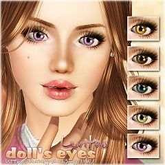 Sims 3 eye, contact, lenses, doll