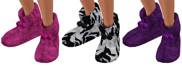 Sims 3 slippers, shoes, boots