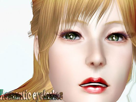 Sims 3 eyelashes, recolorable, makeup