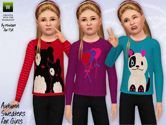 Sims 3 sweater, clothes, females, girls