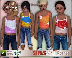 Sims 3 tank, top, keans, clothing, children