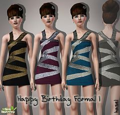 Sims 3 strapless, formal, dress, fashion