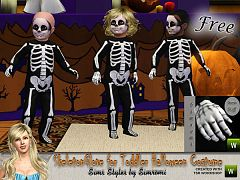 Sims 3 cloth, clothes, skeleton, set, costume