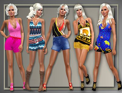 Sims 3 cloth, clothes, fashion, set, rompers