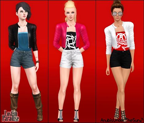 Sims 3 outfit, clothes, fashion, sims3, rock