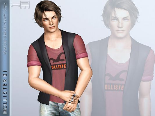 Sims 3 top clothing, male, outfit