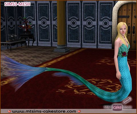 Sims 3 mermaid, fashion