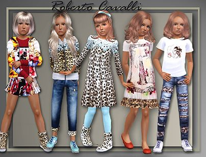 Sims 3 jeans, skirt, outfit, clothing, kids, girls