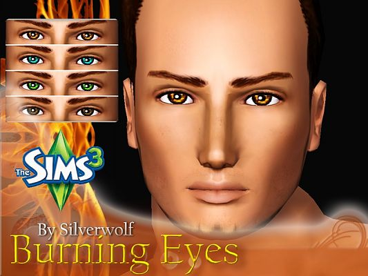 Sims 3 eyes, contact lenses, makeup, female