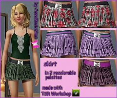 Sims 3 ruffles, bow belt