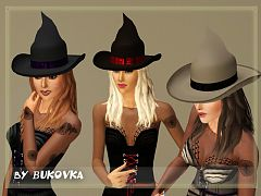 Sims 3 hat, stockings, witch accessory