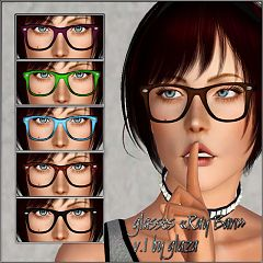 Sims 3 glass, glasses, accessory
