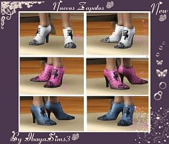 Sims 3 boots, short, shoes, female