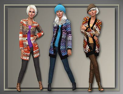 Sims 3 sweater, coat, clothes, fashion