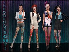 Sims 3 accessory, tights, stockings