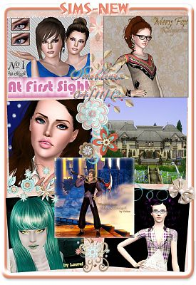 Sims 3 models, accessories, makeup , lots