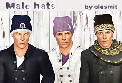 Sims 3 accessories, hat, male