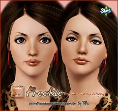 Sims 3 makeup, costume, freckles