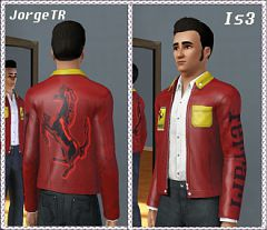 Sims 3 jacket, leather, male, clothing
