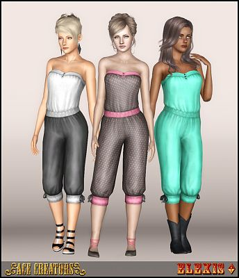 Sims 3 jumpsuit, outfit, fashion, clothing, casual, female