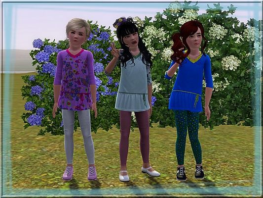 Sims 3 dress, fashion, clothing, casual, girls