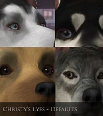 Sims 3 eye, genetics, default
