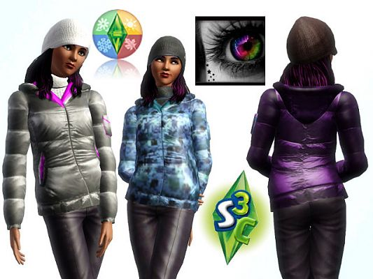 Sims 3 coat, top, clothes